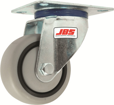 JBS RUBBER CASTORS Swivel Bearing GREY *Australian Brand- 80mm Or 100mm