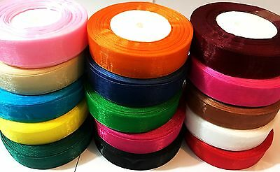 ORGANZA RIBBON 24mm WITH 15 x DEMANDING COLOURS FOR SEWING FABRIC DESIGN PIPPING