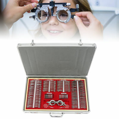 266x Optical Lens Optometry Rim Case Kit Set WithFree Optometry Test Trial Frame
