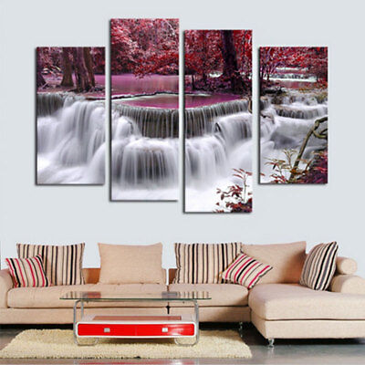 4Pcs/lot Abstract Landscape Canvas Wall Art Painted Oil Painting For Home Decor
