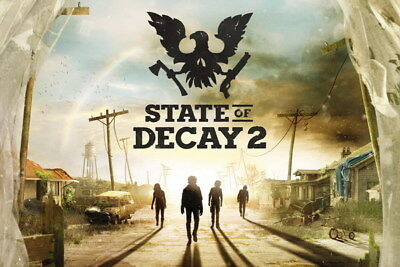"005 State Of Decay 2 - Zombie Survival Game 36""x24"" Poster"