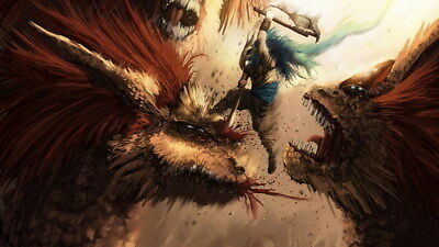 """009 Monster Hunter World - Moster Fight Game 42""""x24"""" Poster"""