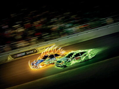 "065 Car Race - NASCAR USA Modified Cars 32""x24"" Poster"