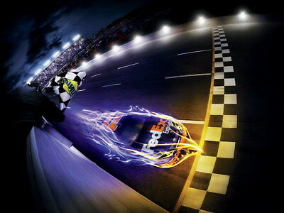 "060 Car Race - NASCAR USA Modified Cars 32""x24"" Poster"