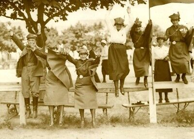 Warsaw Sports Meeting Poland Scout Girls Varsovie Pologne Old Photo 1930