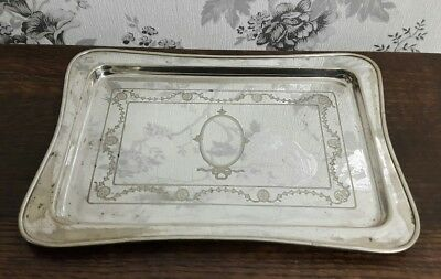 An Antique Silver Plated Tray by John Collyer & Co Ltd