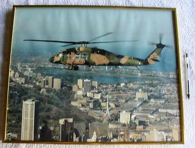 Sikorsky S70 Helicopter Australian ARMY Original Large Framed Picture Photo