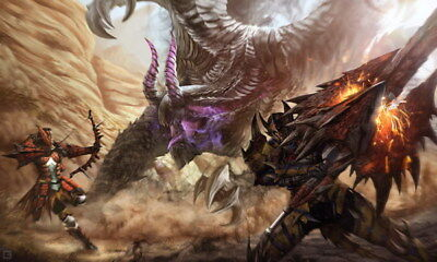 """004 Monster Hunter World - Moster Fight Game 23""""x14"""" Poster"""