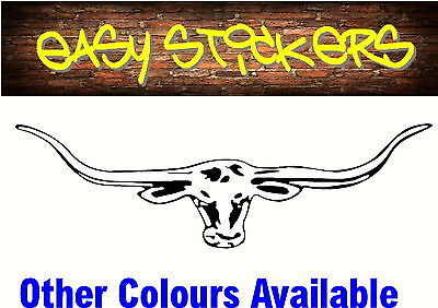 TODAY ONLY $1 - 300mm Longhorn Car Ute Sticker RM Williams Truck Any Colour!