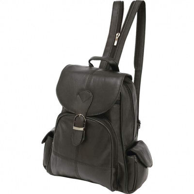 Embassy  Solid Genuine Lambskin Leather Backpack GEN LAMBSKIN LEATHER  BACKPACK