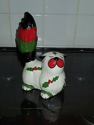 lorna bailey fireside Christmas cat LTD ed 1/1 colourway