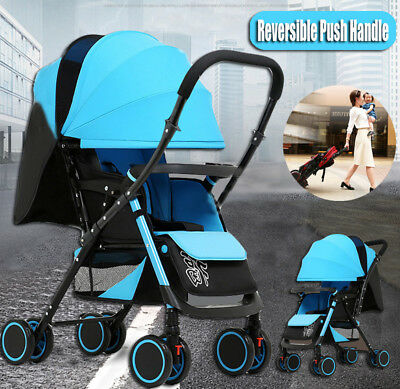 Reverse Fold Baby Stroller Prams Newborn Carriage Jogger Buggy Pushchair Travel