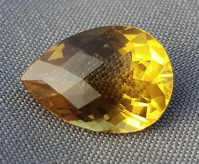 WaterfallGems Large Citrine Pear, 23x16mm, 20.55ct