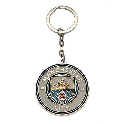Manchester City FC Official Football Club Crest  Keyring FREE (UK) P+P