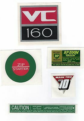 Victa VC 160 2 Stroke Vintage Mower Repro Decals