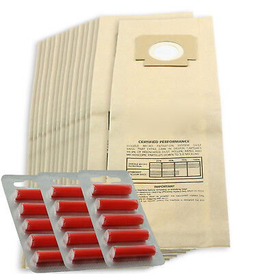 15 x H4 H18 Type Paper Dust Bags for BLOMBERG UPRIGHT BU11 + 15 Fresheners