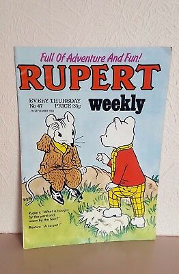 RUPERT WEEKLY No. 47 -Dated 7th Sept 1983 - Good Condition