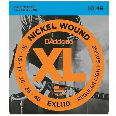 D'Addario EXL110  Regular Light Electric Guitar Strings 10 - 46  EXL 110