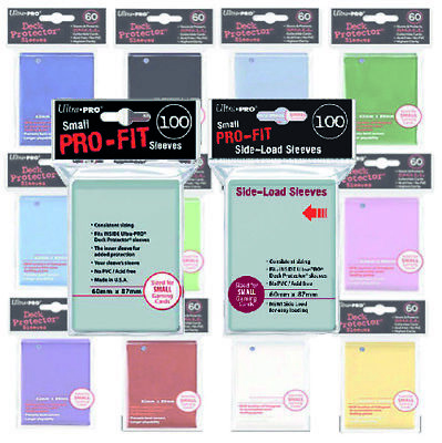 ULTRA PRO SMALL PRO-fit SLEEVES & SMALL DECK PROTECTOR COMBO FOR  YUGIOH CARDS