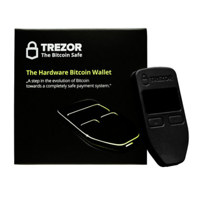 Trezor Bitcoin Hardware Wallet (Black) UK *GUARANTEED NEXT DAY DELIVERY BY 1PM
