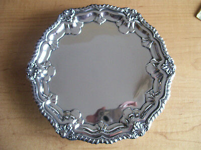 Rare Chester, Antique Hm Sterling Silver 3 Footed Salver,barker Brothers,1911.