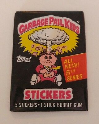 1986 Topps Garbage Pail Kids Original Series 5 *Empty Wax Pack Wrapper + 2 Cards