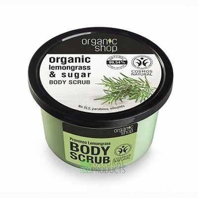 Organic Shop Body Scrub Natural Provence Lemongrass and Sugar 250ml