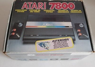 Atari 7800 console boxed with 24 games fully working - Atari flashback mini 7800 classic game console ...
