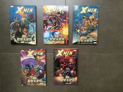 X-Men Age of Apocalypse complete 5 vol TP new!