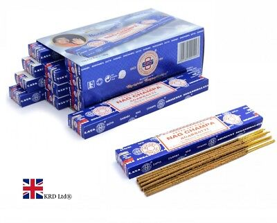 Genuine NAG CHAMPA AGARBATTI Incense Sticks Satya Sai Baba Insence Joss Pack UK