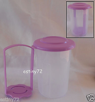 Tupperware Small Round Olives Pick A Deli Sheer Ice & Radiant Orchid Purple New