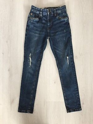 Boys Next Ripped / Distressed Skinny Jeans With Adjustable Waist Age 10 - 11 Yrs