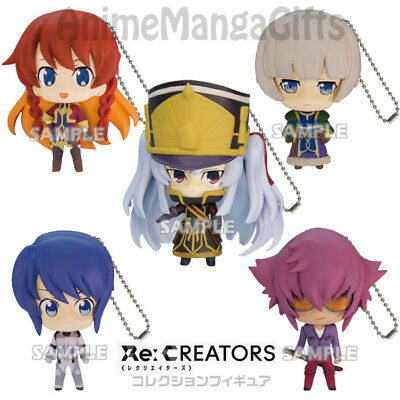 Bushiroad Re Creators Key chain Swing Figure Set Altair Selesia Meteora Yuya Rui