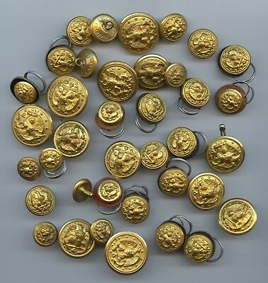 Military Buttons Mixed Bag of 37 Pcs. (#45) Carefully Check out the Photos.