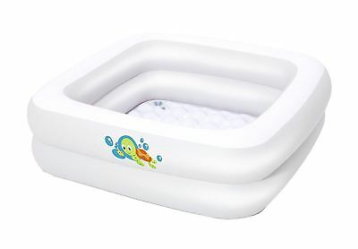 New Tiny Tots Inflatable Baby Bath Tub Heat Sensor Travel Infant Washing Tub