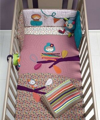 Sale! Bnwt Mamas And Papas Timbuktales Girls Coverlet Pink Cot Bedding