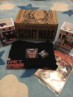 Secret Wars Marvel Collector Corps Box Thor and Miles Morales Spider-Man funko