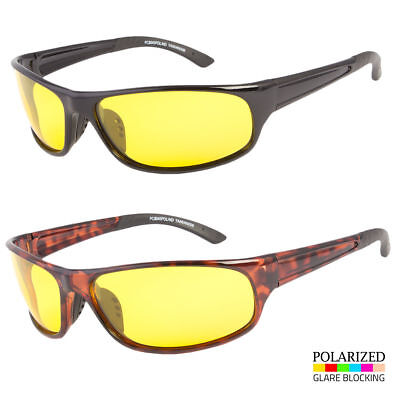 Sport Wrap Hd Night Driving Yellow Vision Sunglasses High Definition Glasses
