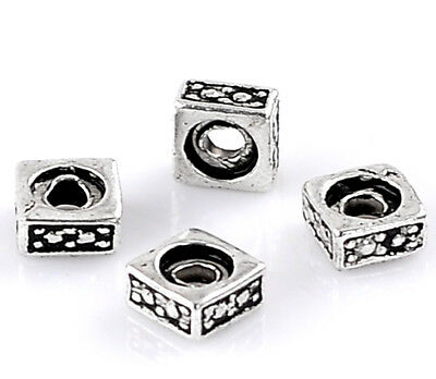 Bali Sterling Silver Square Spacer Beads 5mm Jewelry Making Beading Supply