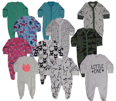 Ex Next Baby Boys Girls Camo Cat Sleepsuits Babygrow Tiny N/B 0 3 6 9 12 18 24