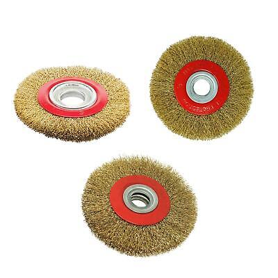 Wire Brush Wheel 5'' 6'' 8'' For Bench Grinder Polish + Reducers Adaptor Rings