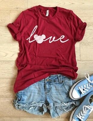 Valentines Mickey Disney LOVE Shirt all sizes! Adult & youth S M L XL