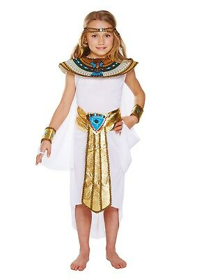 Girls Egyptian Girl Cleopatra Kids Fancy Dress Costume World Book Day Week Outfi  sc 1 st  PicClick UK & GIRLS EGYPTIAN Girl Cleopatra Kids Fancy Dress Costume World Book ...