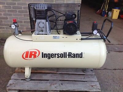 Ingersoll Rand Receiver Mounted Compressor. 2003. Tested To Air Cut Off