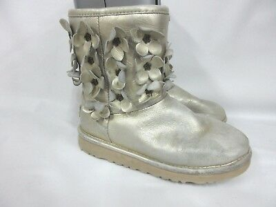 4d154c8ecac UGG AUSTRALIA FLORA Short Boots Girls Youth 1010291K Size:2
