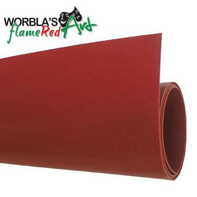 Worbla's flameRed Art (WRA) Thermoplastic Modelling & Moulding Sheet