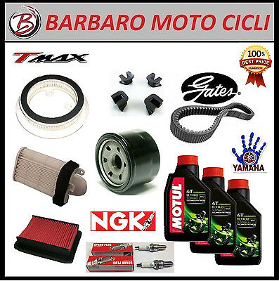 Replacement Kit Yamaha T Max 500 08-09 Oil+Spark Plugs+Filters+Belt+Sliders