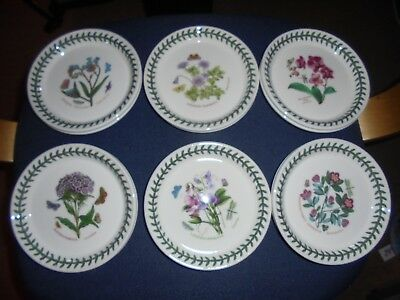 BNWT  Portmeirion Botanic Garden  6 bread and butter plates no3 lot