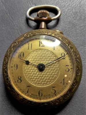 vergoldete antike Taschenuhr, Bastleruhr, pocket watch