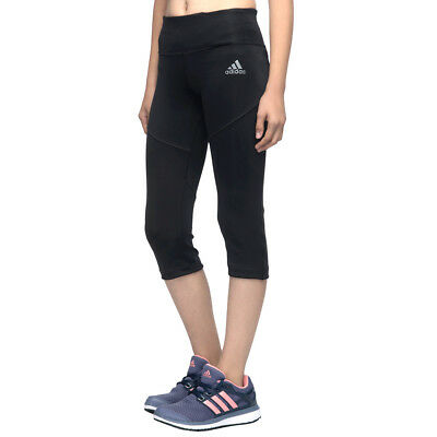 adidas girls 3 Techfit black 3/4 length leggings. Various sizes!